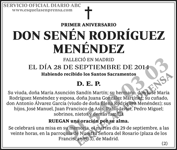 Senén Rodríguez Menéndez